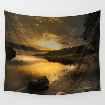 Lava Wall Tapestry by HappyMelvin