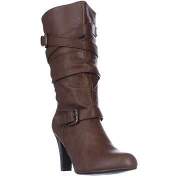 Style & Co. Vicky Mid-Calf Fashion Boots - Caramel