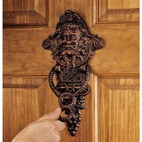 SheilaShrubs.com: Winthrop Manor Greenman Door Knocker SP1328 by Design Toscano: Door Knockers