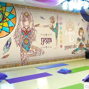 Thailand Yoga 3D Mural Joss figure of Buddha Photo Murals 3D WALLPAPERs for Wall Art Wall Paper Wallcovering papel parede rolo