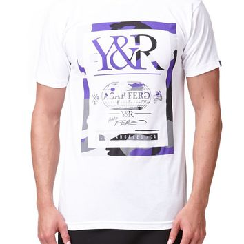 Young & Reckless Fergenstein Black T-Shirt - Mens Tee - White