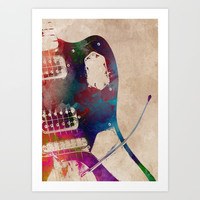 guitar art 3 #guitar #music Art Print by jbjart