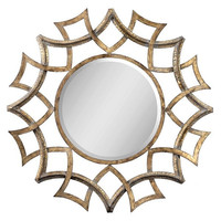 Uttermost Demarco Round Antique Gold Mirror - 12730 B