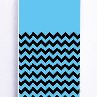 Chevron Blue Light for Iphone 5 / 5s Hard Cover Plastic