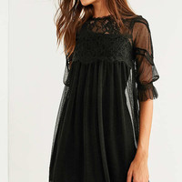 Kimchi Blue Mesh Lace Frock Dress | Urban Outfitters