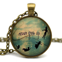 Peter Pan Necklace, Neverland Necklace, Second Star to the Right, Tinkerbell Necklace, Never NeverLand Jewelry, Peter and Wendy #3