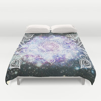 Celestial Mandala Duvet Cover by Jenndalyn