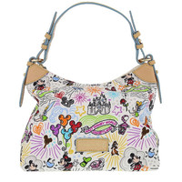 Disney Parks Disney Characters Sketch Nylon Champsac Bag by Dooney & Bourke New with Tag