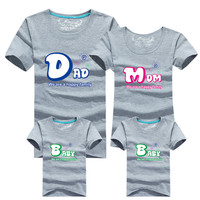 Family Matching Outfits Tshirt 16 Color Clothes For matching family clothes mother father Baby short Sleeve Shirt