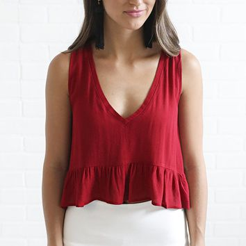 no problems ruffle top