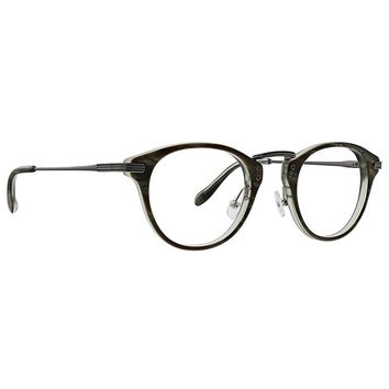 Badgley Mischka - Mitchell 47mm Olive Horn Eyeglasses / Demo Lenses