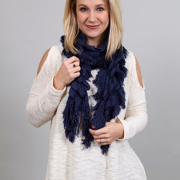 Cozy Scarf {Navy}