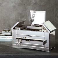 Ultimate Extra-Large Mirrored Jewelry Box