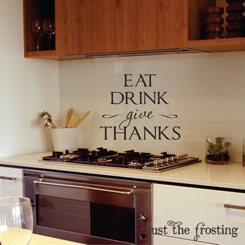 Kitchen or Dining Wall Decals  Kitchen Vinyl by JustTheFrosting