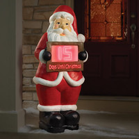 The Countdown To Christmas 4' Santa - Hammacher Schlemmer