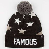 Famous Stars & Straps Pledge Beanie Black One Size For Men 24640110001