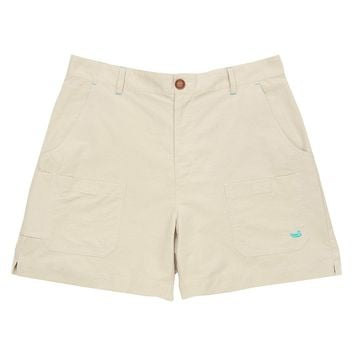 The Tarpon Flats Fishing Short in Audubon Tan by Southern Marsh