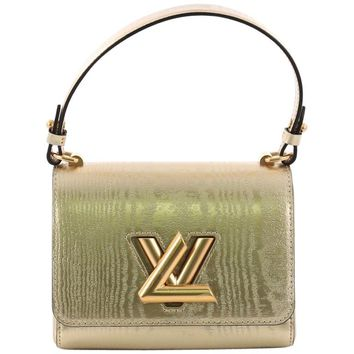 Louis Vuitton Twist Handbag Gravity Gold Calfskin PM