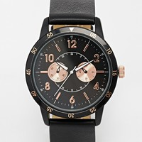 ASOS Watch With Rose Gold Detail