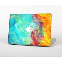 The Vibrant Colored Messy Painted Canvas Skin Set for the Apple MacBook Air 13""