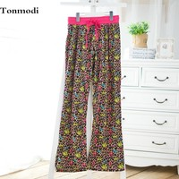 Woman sleeping pants clothing autumn pajama pants cotton loose long trousers maternity pants
