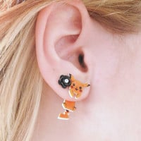 Cute Clinging Pikachu Earrings