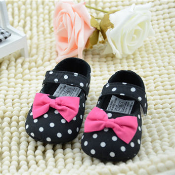 Cute Baby Girls Princess Mary Jane Style Crib Shoes Child Shoes 0-12M