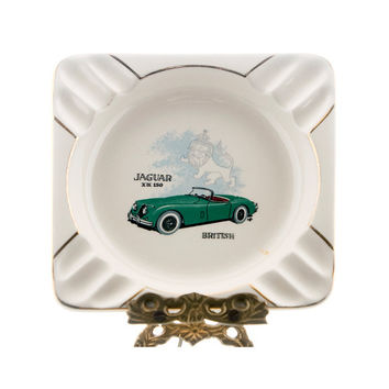 Vintage Jaguar Ashtray, XK 150 Roadster, Salem Collectors Editions, Jaguar Memorabilia, Automobile Ashtray, Tobacciana