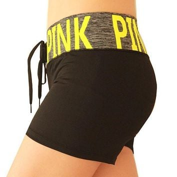 PINK Victoria's Secret Women Fashion Sport Yoga Shorts