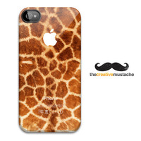 Custom iPhone 4 Case iPhone 5 Case - GIRAFFE PRINT - iPhone 4 cover iPhone 5 cover