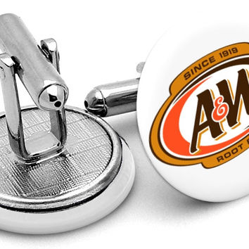 A&W Root Beer Cufflinks