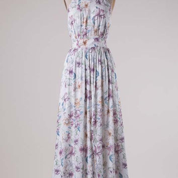 Enchanted Garden Maxi Dress - Ivory