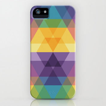 iPhone 5 4 4S Cover Geometric Pattern of Triangles Case - Fig. 023