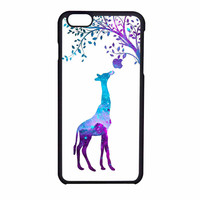 Giraffe Eat Apple Nebula Galaxy iPhone 6 Case