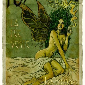"""Absinthe Fairy"" - Art Print by Aly Fell"
