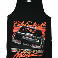 VERY RARE Vintage 1990 Dale Earnhardt Black Magic Tank Top Made in USA Mens Size Small