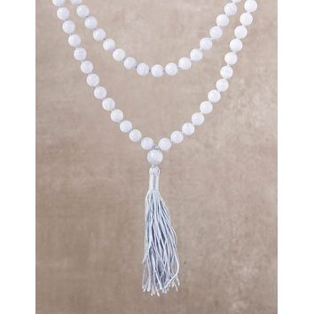 High-Energy Blue Lace Agate Mala