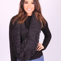 The Fringe Way Scarf (Grey)