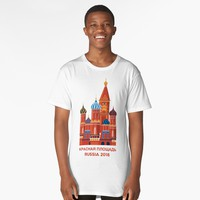 'Red Square | Russia 2018' Long T-Shirt by hypnotzd