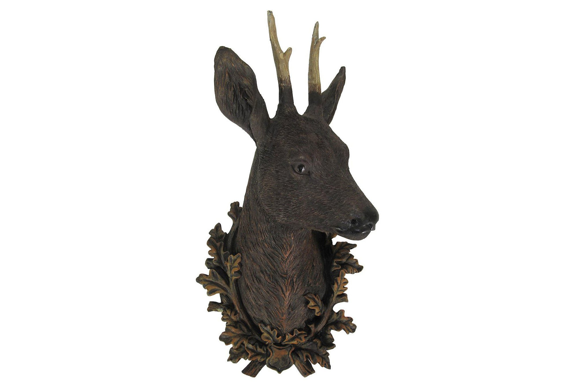 Faux deer head wall decor natural from one kings lane home for Animal head wall decoration