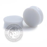 White Acrylic Plugs