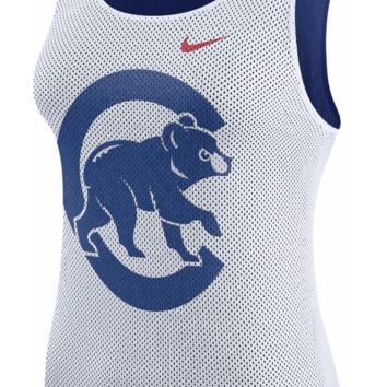 Women's Chicago Cubs Nike White Out Tank Top