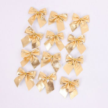 12 PCS Merry Christmas 5cm Bowknot Decor Christmas Tree Hanging Decoration Xmas Bowknot Ornament [9343527172]