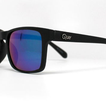 Quay Day Breaker Black Sunglasses, Mirror Lenses