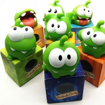 Hot1Pcs Rope Frog Vinyl Rubber Android Games Doll Cut The Rope OM NOM Candy Gulping Monster Toy Figure with Sound For baby kids