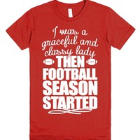 Football Lady-Female Red T-Shirt
