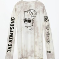 Neff - The Simpsons Steezy Bart Long Sleeve T-Shirt - Mens Tee - White