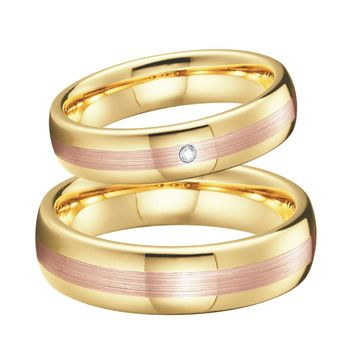 Unique Wedding Rings Tungsten Jewelry Rose Gold Color anillos anel bague bijoux femme Engagement couple rings for women