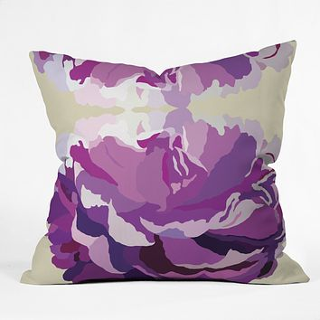 Gabi Jardin Throw Pillow