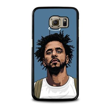 j cole forest cartoon samsung galaxy s6 case cover  number 1